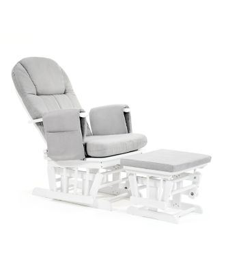 what is a rocking chair slip covers for wing back chairs nursing mothercare reclining glider white with grey cushion