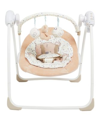 baby swing chair youtube white chairs for bedroom teddy s toy box swings mothercare