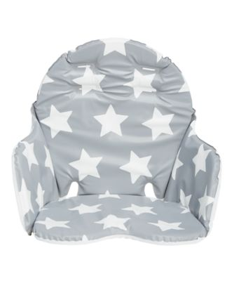 high chair cover replacement mamas and papas traditional barber chairs mothercare grey star highchair cushion accessories