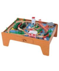 ELC Wooden Train Table - trains sets & vehicles - Mothercare