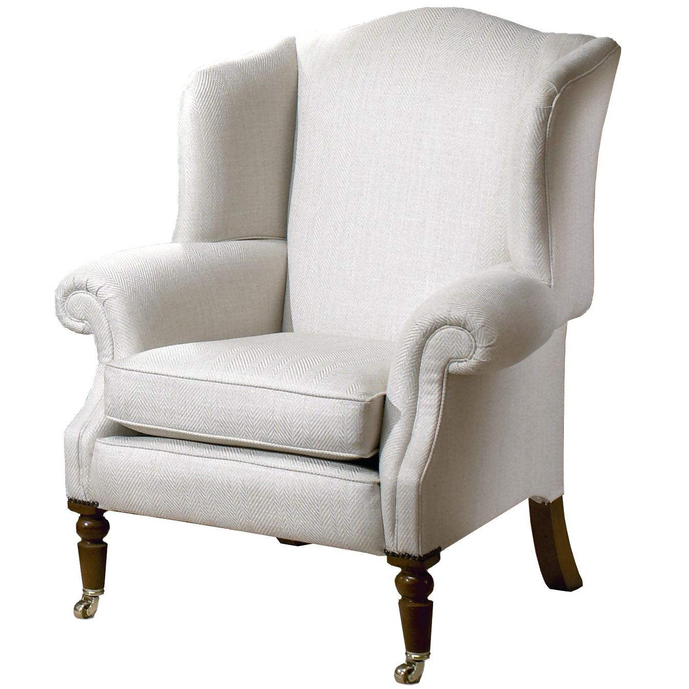 Duresta Cadogan Wing Chair, Linen