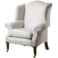 Duresta Cadogan Wing Chair, Linen