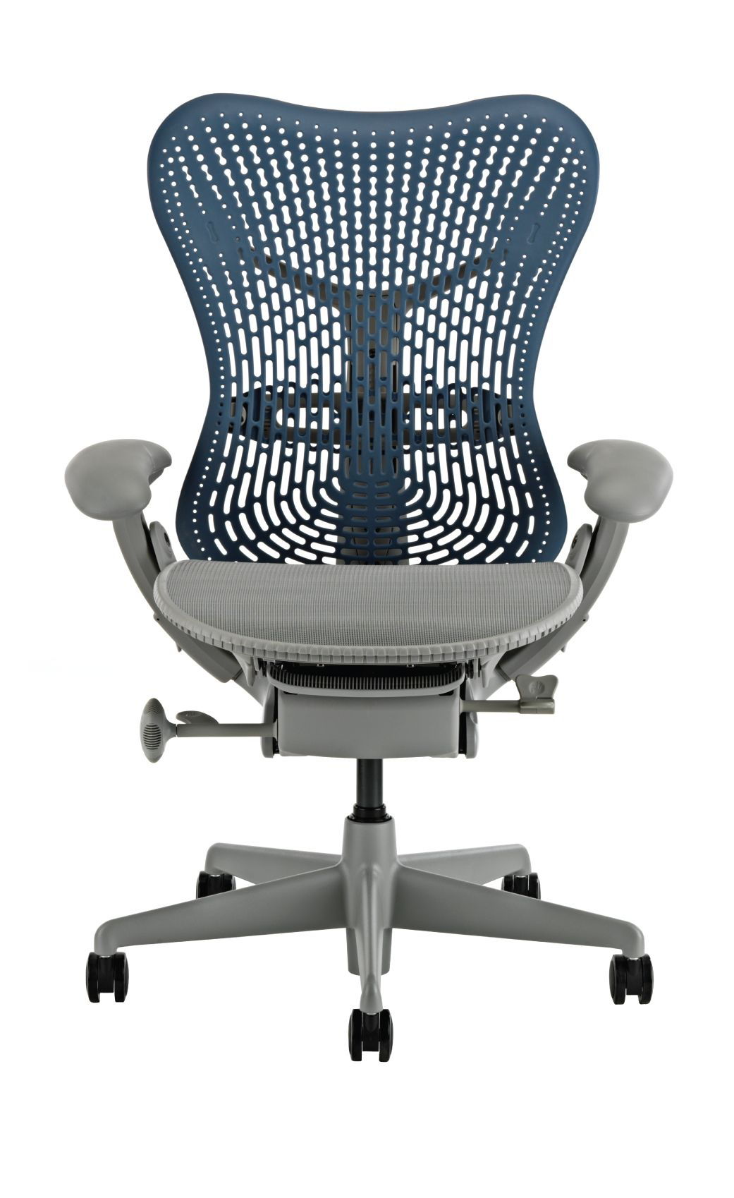 herman miller rolling office chair rail beadboard paneling mirra blue fog review