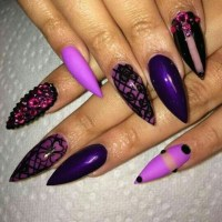 nail art, nail design, stiletto nails - image #2630349 by ...