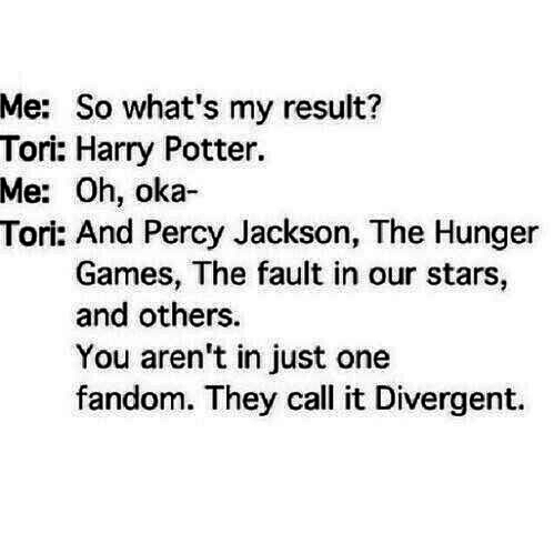 divergent, fandom, funny, harry potter, lol, percy jackson