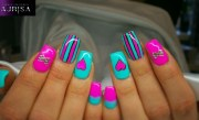 cute girly nail art pink nails