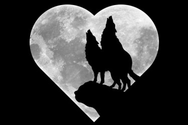 wolf moon wolves heart howling gothic silhouette shaped print tattoo painting wolfs anime pack quotes google blood clip dreamcatcher baby