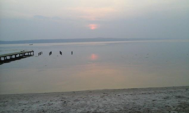 Надвечірній вид на Канівське водосховище-море, newssky.com.ua