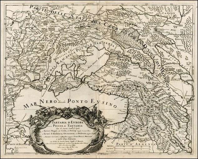 італійська карта Південно-Східної Європи 1684 року
