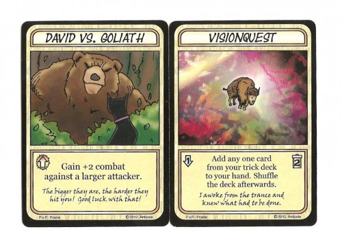 Nature of the Beast example event cards.