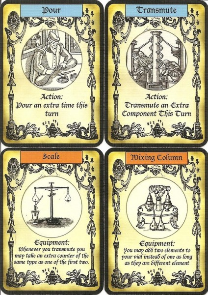 Alchemy prototype cards.