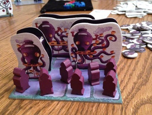 Steam Park purple rides and meeples