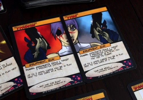 Time to unload these babies on some unsuspecting villains. (But why is the quote backwards when you line up the art?)