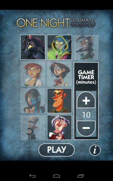 The One Night Ultimate Werewolf app is fantastic. I highly recommend it (it's free!) if you have a device that can handle it. It's available for iOS and Android.