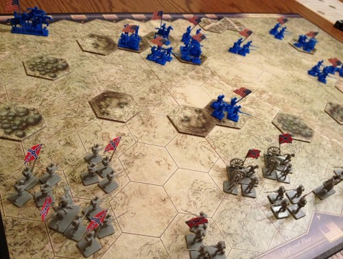The forces arrayed and marching in to engage at Winchester.