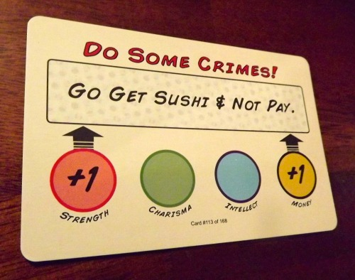 Villainy Do Some Crimes Card