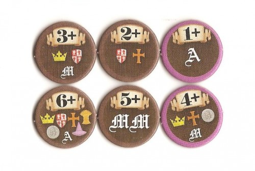 Example rat tokens with the various population requirements and iconography of effects.