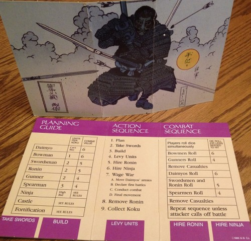 The player screens hide your monetary allocations and provide some useful summaries. Plus the nifty art on the backside gives your opponents something nice to look at.