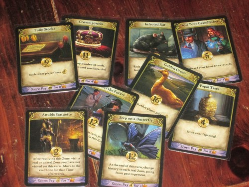 Some of the player cards in Temporum. I love the flavor on these.
