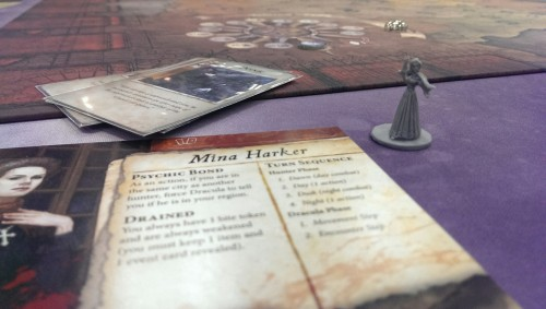 I played as Mina... who starts with a vampire bite already.  Which makes sense if you know the book.