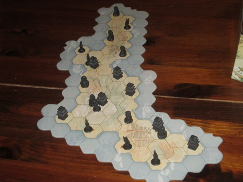 Samurai set up for two players.