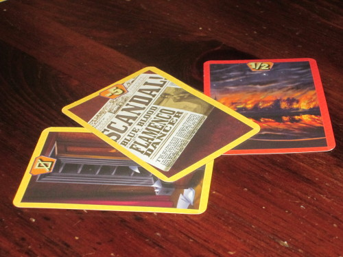The misfortune cards are an interesting twist to the game.