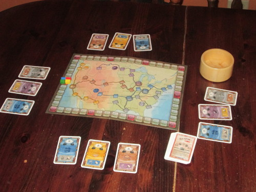 Mogul set up for four players.