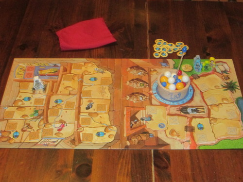 The game set up for four players.