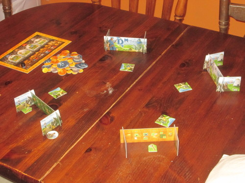 Isle of Skye set up for four players.