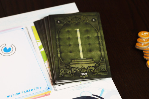What will you find in the mysterious item deck?