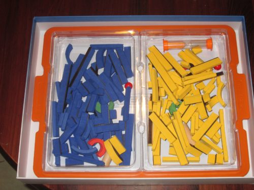 Everything fits nicely back inside the box and keeps the pieces contained.