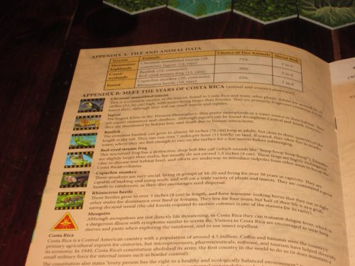 This animal supplement gives more information about each of the animals found in the game. It's a nice touch.
