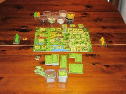 Agricola: Family Edition set up for two.