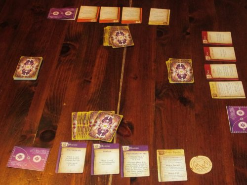Hocus set up for three players.