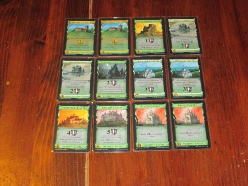 The castle pile is one of the curios in Empires. A victory pile with shifting cards? Intriguing.