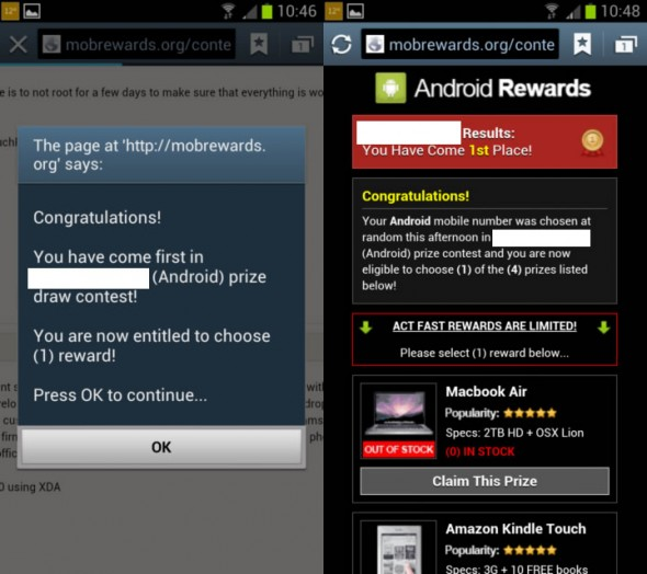 mobrewards scam targeting ios