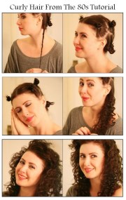 diy curly hair 80s hairstyle