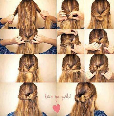 How To Do Cute Bow Hairstyles Easy Casual Hairstyles For Long Hair
