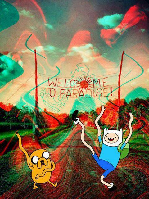 Trippy Adventure Time Iphone Wallpaper