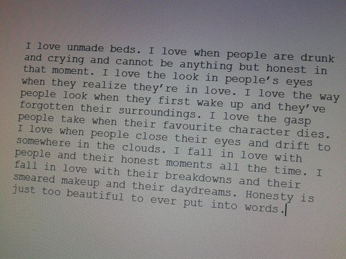 I Love Unmade Beds Quote