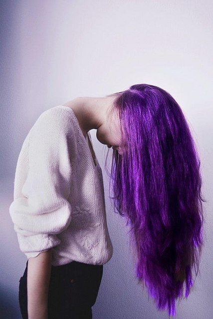 purple dyed hair images