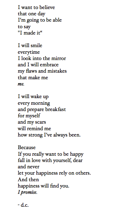 Poem My I Self Believe