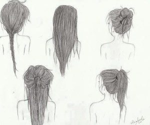 hair drawings drawing draw hairstyles easy sketch favim simple drawn pretty hairstyle different straight cartoon styles hairs
