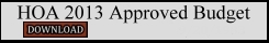 HOA_2013_Approved_Budget