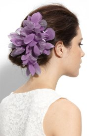 flower hair accessories - rustic