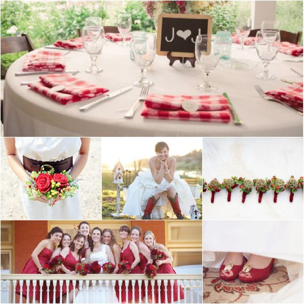 Inspiration For A Red Themed Wedding Rustic Wedding Chic