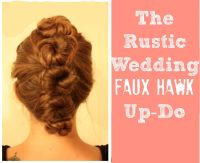 Rustic Wedding Hair Up Do - Rustic Wedding Chic