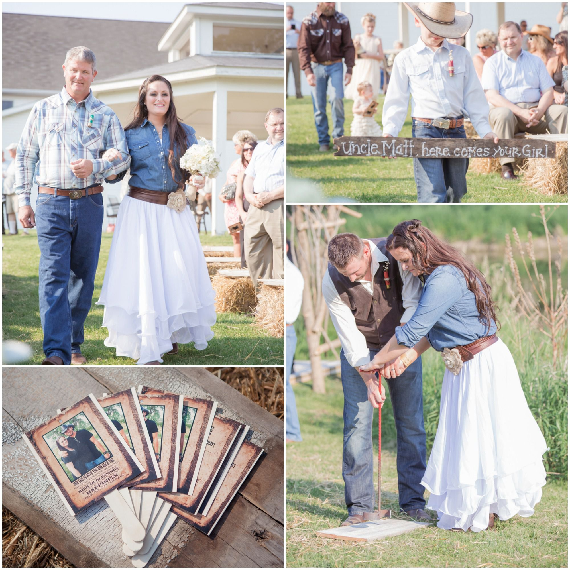 Western Style Wedding in Denim and Jeans Rustic Wedding Chic