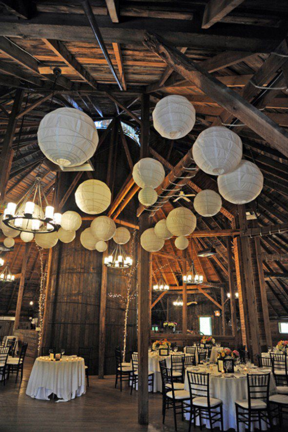 how to light a barn wedding rustic
