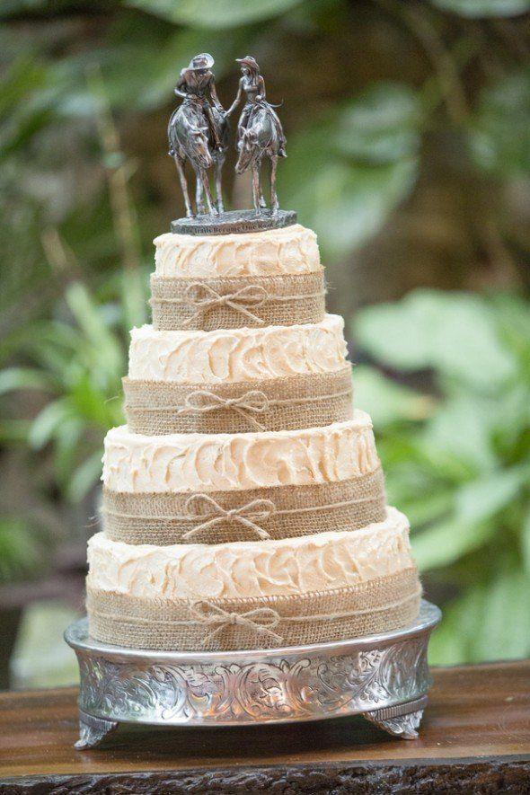 10 Amazing Burlap Wedding Cakes Rustic Wedding Chic